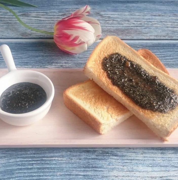 黒ごま&塩みかんトースト 完熟みかん
