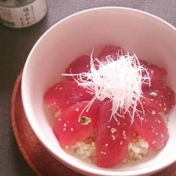 塩みかん風味のマグロ丼 青みかん